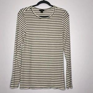Halogen Striped Black & White T-Shirt Size Medium
